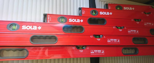 4er Set Sola BIG RED 3 Wasserwaage Länge 120-200 cm 3 Libellen